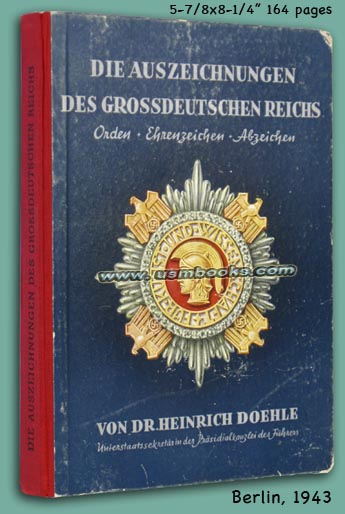 Nazi Orders, Medals, Badges COLOR Book by H  Doehle