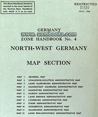 GERMANY BASIC HANDBOOK Zone 4 Zone 5 Supplements 1944