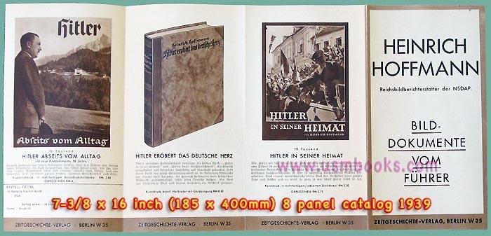 1939 Nazi Heinrich Hoffmann Book Catalog