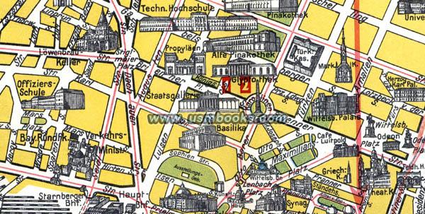 LodenFrey Nazi Map of Munich Original