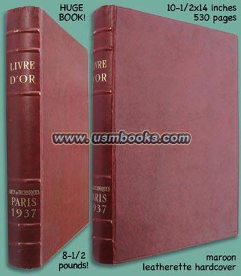 1937 Paris Exhibition Livre D Or