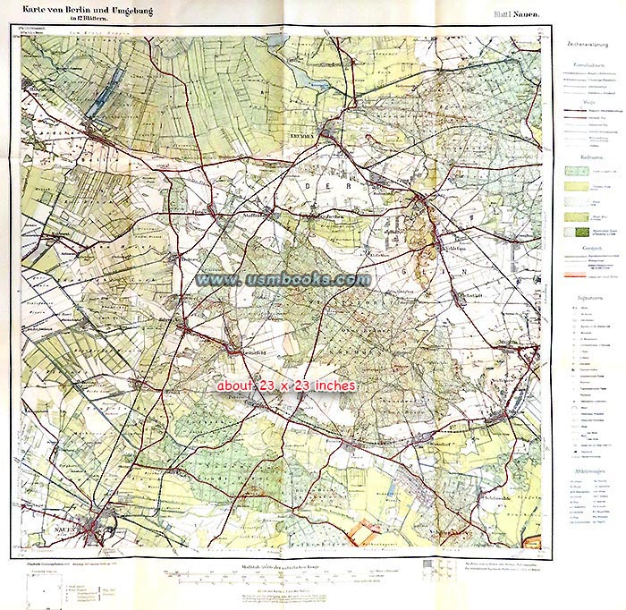 Nazi Color Maps Of Berlin Surrounding Area