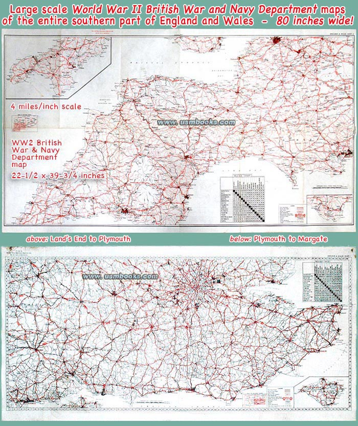 Map Of England During Ww2.British Ww2 Maps Of Southern England Rare