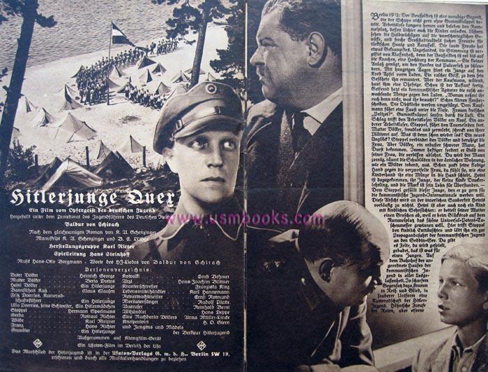 illustrated nazi movie brochures