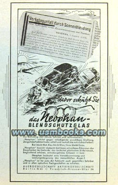 Nazi Neophan Sunglasses Advertising