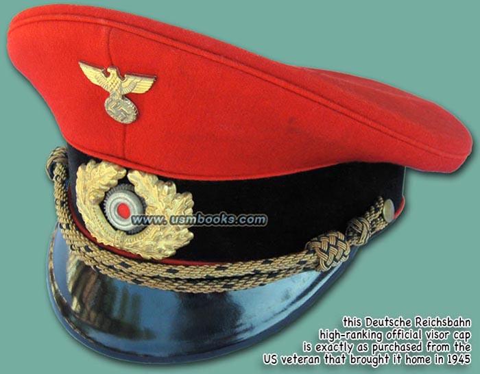 Nazi Reichsbahn Visor Cap High Ranking Official