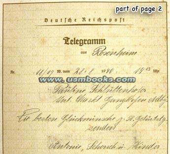 Nazi Decorative Telegrams Deutsche Reichspost